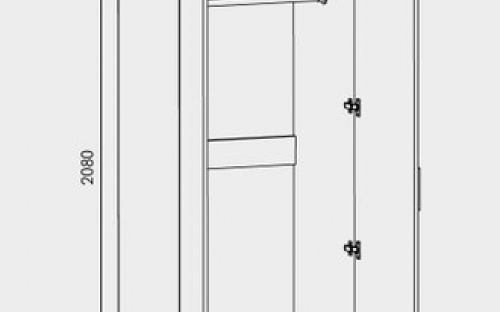 Шкаф распашной размеры