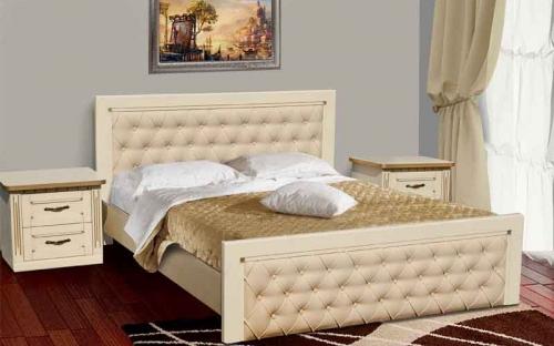 Кровать двуспальная из дуба  купить