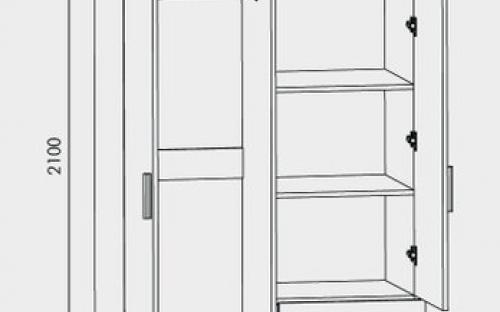 Шкаф прямой с ящиками размеры