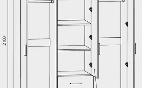 Большой распашной шкаф размеры