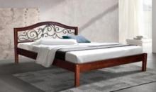 Купить двуспальную кровать с коваными элементами