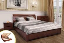 Надежная кровать из бука с подъемным механизмом купить