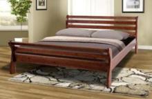 """Двуспальная кровать из сосны """"Ретро-2"""""""