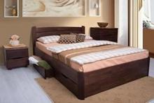 Двуспальная кровать из натурального дерева бук купить